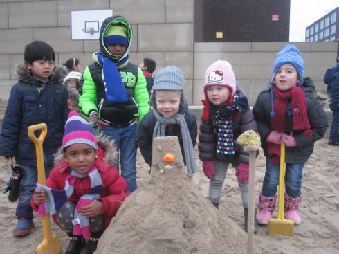Sneeuwpop bouwen